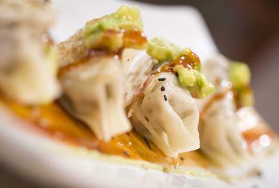 Empanadilla japonesa rellena de guiso mexicano de cordero