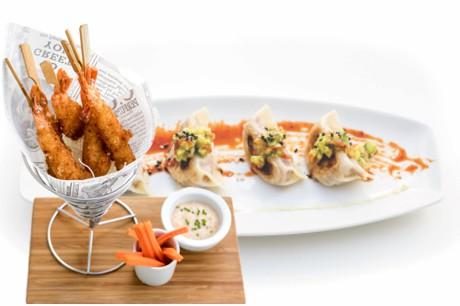 Entrantes,comida japonesa, comida mexicana