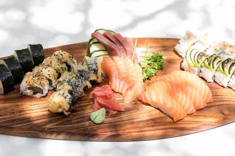 bandejas de sushi