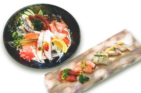 nigiris y sashimi