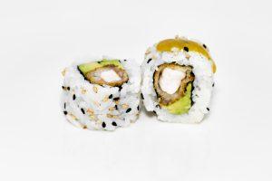 Sushi arroz por fuera de langostino