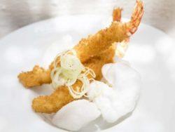 Langostinos crujientes en tempura